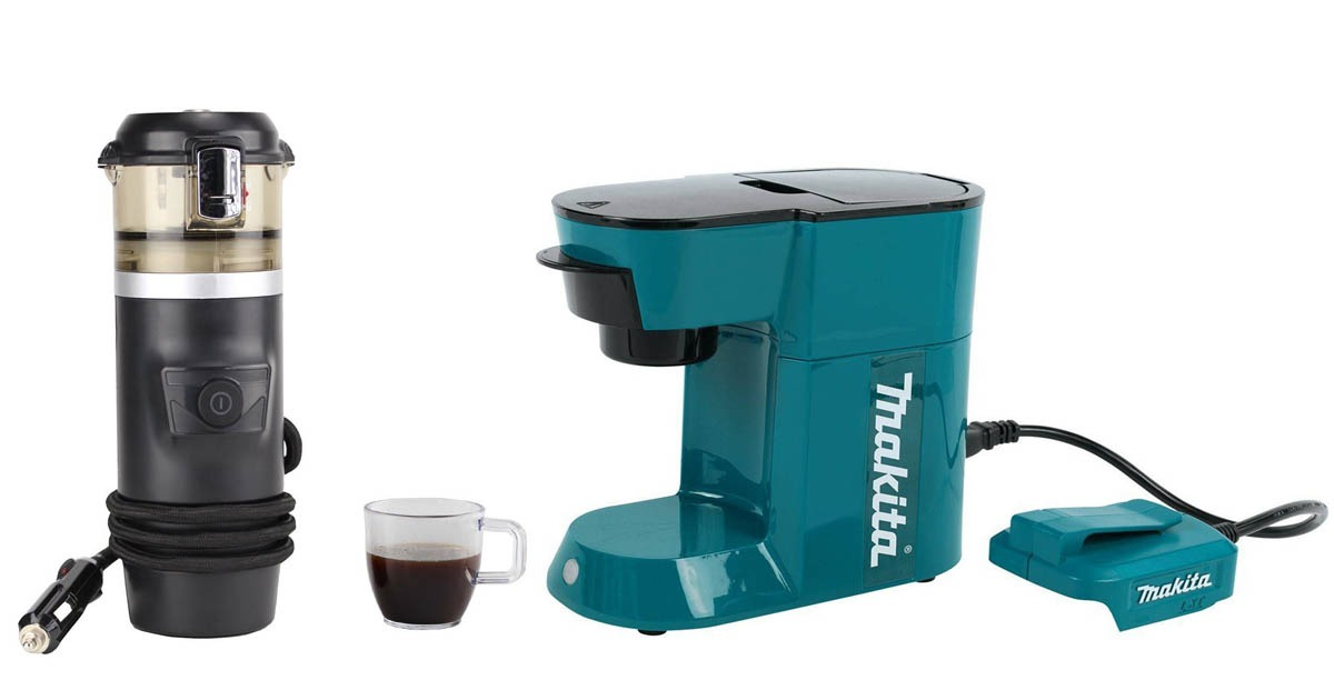 Battery powered, portable coffee makers from Coleman, Makita and Walshen