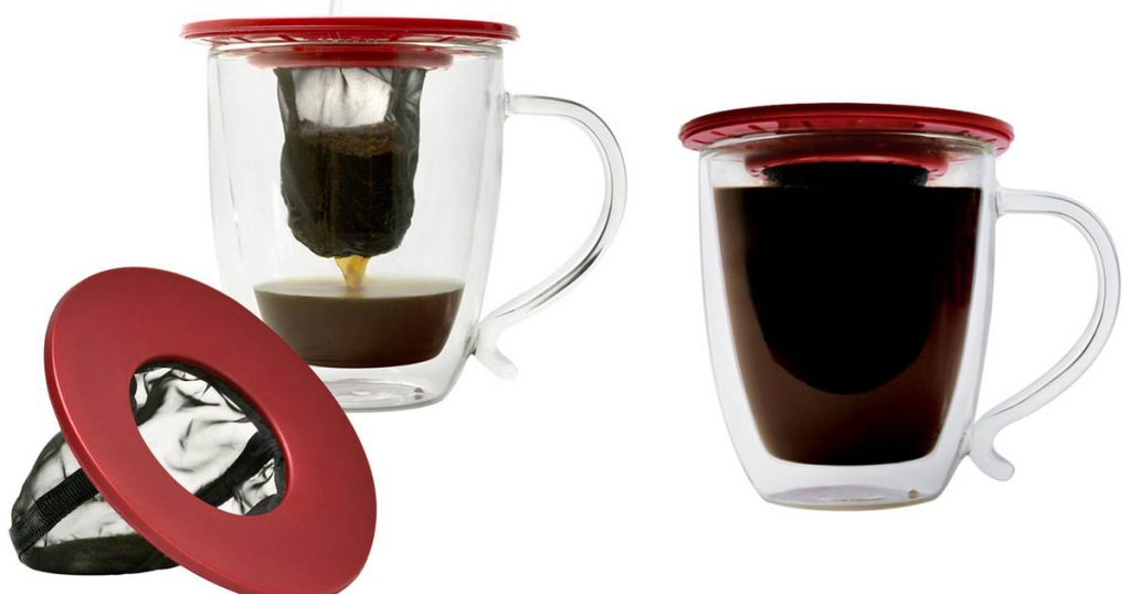 This compact and easy to use pour over coffee maker from Primula is a perfect backpacking option.