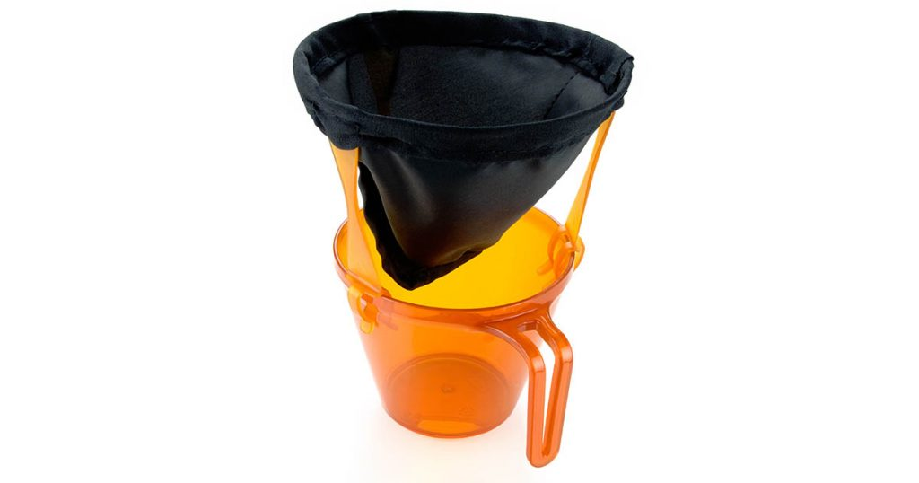 One of the best pour over coffee makers for camping, hiking, hunting or fishing.
