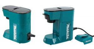 This excellent battery powered coffee maker from Mikita is a great option for camping