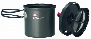 The Primus LiTech Coffee Press is compact and durable which makes it ideal for backpacking.