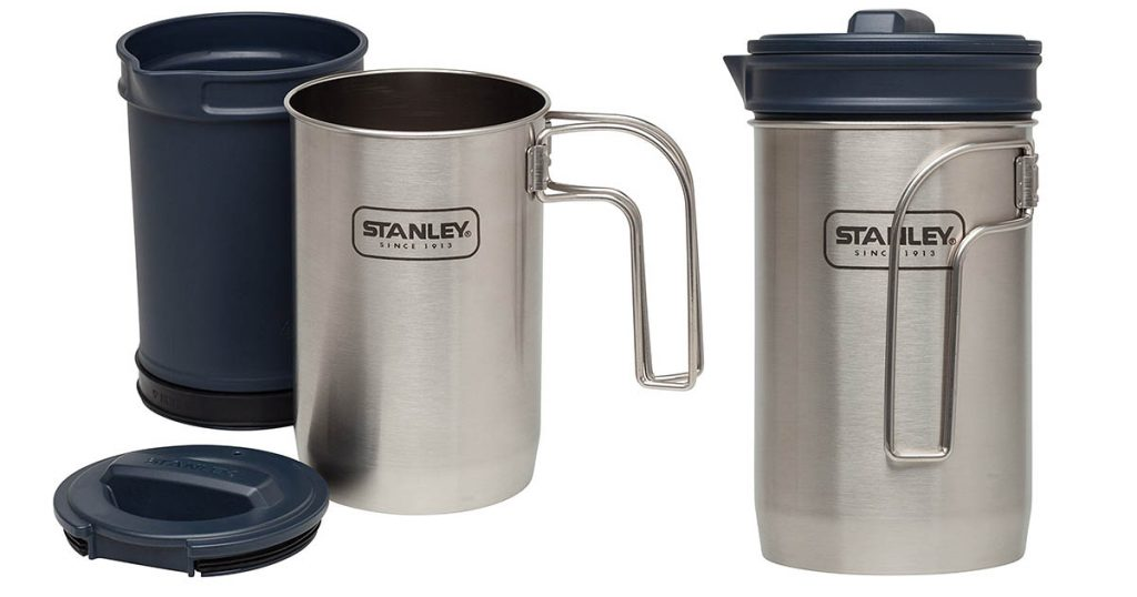 The Stanley 32 ounce coffee press is a great addition to any campsite.