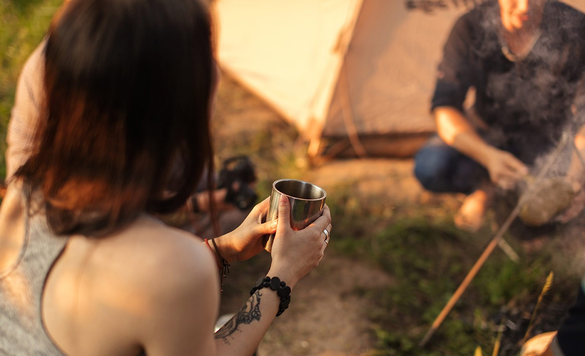 Titanium coffee mugs are the best coffee cup option for the great outdoors.