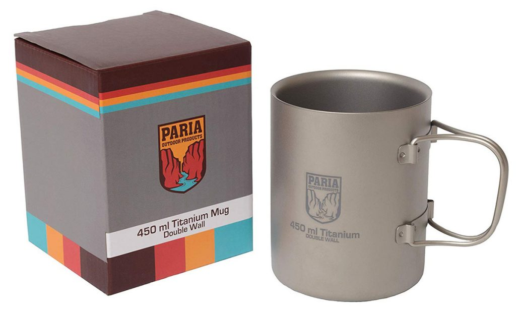 The Paria Titanium Coffee Mug is tough and durable.