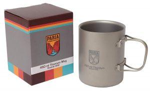The Paria Titanium Coffee Mug is tough and durable.