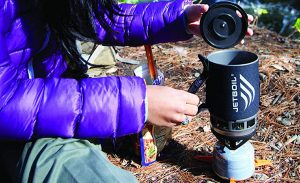 The new JetBoil is an excellent way to quickly boil water in the wilderness.