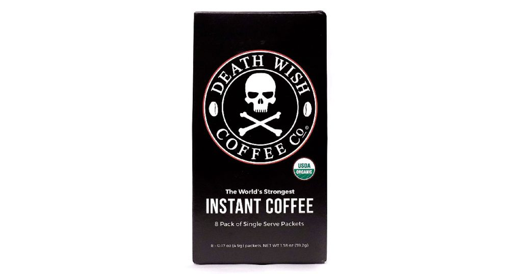 This is an incredibly strong organic instant coffee that still tastes good.
