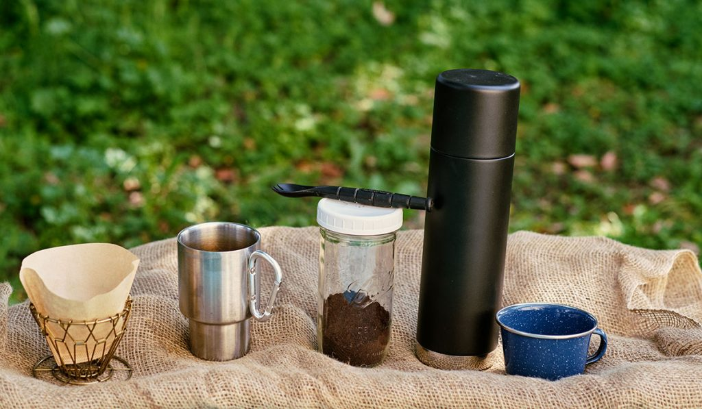 Everything you will need for the immersion method of cold press coffee.
